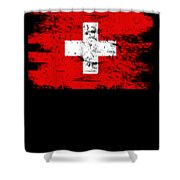 Switzerland Gift Country Flag Patriotic Travel Shirt Europe Light Shower Curtain
