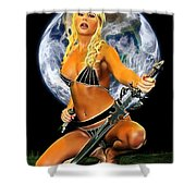 Sword And Dagger Shower Curtain