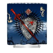 Sword And Shield Shower Curtain