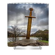 Sword Of Llanberis Snowdonia Shower Curtain