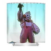 Sword Swallower Shower Curtain