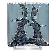 Swordfish Sculpture Shower Curtain