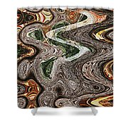 Sycamore Tree Abstract # 9283 Shower Curtain
