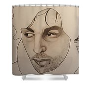 Syd The Crazy Diamond Shower Curtain