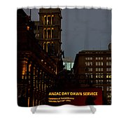 Sydney Clock On Anzac Day At Dawn Shower Curtain