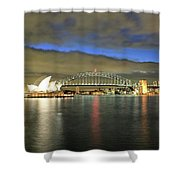 Sydney Harbor At Blue Hour Shower Curtain