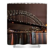 Sydney Harbor At Night Shower Curtain