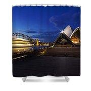 Sydney Opera House At Night Shower Curtain