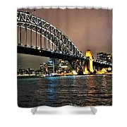 Sydney Harbor Bridge Night View Shower Curtain