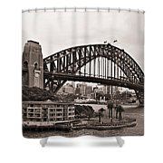 Sydney Harbor Bridge Platinum Shower Curtain