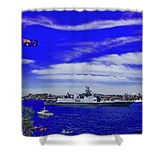 Sydney Harbour And Flying Flag Shower Curtain