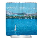 Sydney Harbour And The Opera House Vacation Shower Curtain