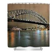 Sydney Harbour At Night Shower Curtain