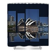 Sydney Harbour Collage Shower Curtain