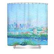 Sydney Harbour Impression Shower Curtain