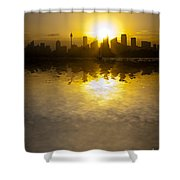 Sydney Harbour Sunset Abstract Shower Curtain