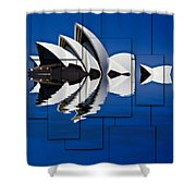 Sydney Opera House Collage Shower Curtain