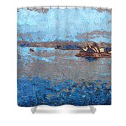 Sydney Opera House From A Distance Shower Curtain