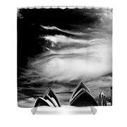 Sydney Opera House Portrait Shower Curtain