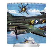 Syfy- Army Bomber Shower Curtain
