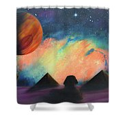 Syfy- Pyramids Shower Curtain
