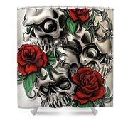Syfy- Skulls Shower Curtain