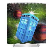Syfy- Tardis 3 Shower Curtain