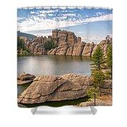 Sylvan Lake View Shower Curtain