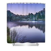 Sylvan Sunset Shower Curtain