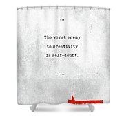 Sylvia Plath Quotes - Literary Quotes - Book Lover Gifts - Typewriter Quotes - Motivational Quotes Shower Curtain