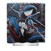 Symbiote Spider-man  Shower Curtain
