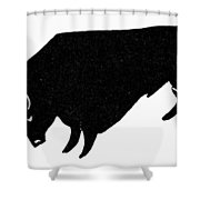 Symbol: Bull Shower Curtain