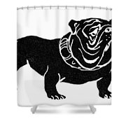 Symbol: Bulldog Shower Curtain
