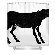 Symbol: Mule Shower Curtain