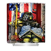 Symbols Of Heroism Shower Curtain