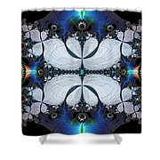 Symmetry In Circuitry Shower Curtain