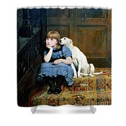 Sympathy Shower Curtain by Briton Riviere