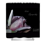 Sympathy Card With A Rose Shower Curtain
