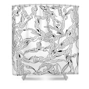 Synapses Shower Curtain