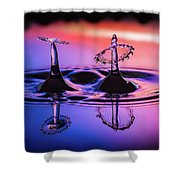 Synchronized Liquid Art Shower Curtain