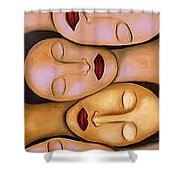 Synchronized Meditation Shower Curtain
