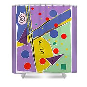 Syncopated Rhythm Shower Curtain