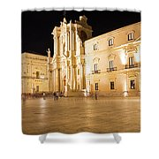 Syracuse, Sicily, Italy - Ortigia Downtown In Syracuse By Shower Curtain