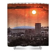 Syracuse Sunrise Over The Dome Shower Curtain