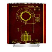 System Of Electrical Distribution Patent Drawing 2b Shower Curtain
