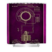 System Of Electrical Distribution Patent Drawing 2c Shower Curtain