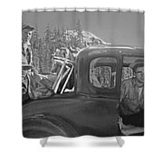T-04902 Travelling To Climb In Style 1955  Shower Curtain