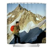 T-504412 Walt Buck Sellers At Bivouac Site Shower Curtain