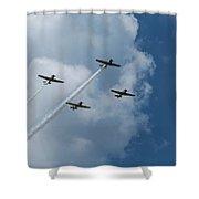 T-6 Texan Airplane Squad 1 Shower Curtain