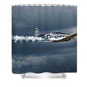 T-6 Texan Smoke On Shower Curtain